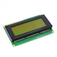 LCD Screen - 20x4 Character Display - Yellow Backlight