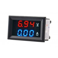 Panel Volt and Amp Meter -  100VDC - 10ADC