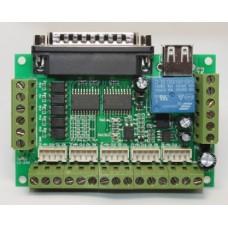 CNC Breakout Board - 5 Axis - LPT/USB